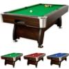 """7 ft Billardtisch """"Premium"""", dunkles Holzdekor, 3 Farbvarianten, Maße ca. 2140 x 1220 x 820 mm (LxBxH) massive Ausführung + Zubehör (2x Queue, Kugelset, Dreieck, Kreide, Bürste) Pool Billard 7 Fuß"""