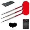Red Dragon Hell Fire A: 22g - 80% Tungsten Darts (Steel Dartpfeile) mit Flights, Schäfte, Brieftasche & Red Dragon Checkout Card